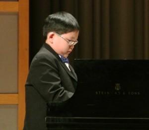 Piano prodigy Anson Hui