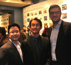 Ricker Choi with TGG's Alex Leung (l) and Adam Debowski (r)